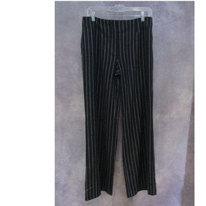 NWT Talbots Wool Cashmere Pants Black Stripe Sz 6